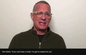 Coronavirus: Tom Hanks has no respect for people not wearing masks